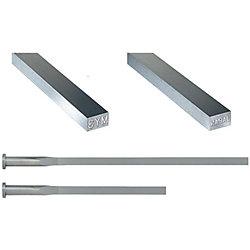 精級刻印付角エジェクタピン -ハイス鋼SKH51/ツバ厚4mm/P・W公差0_-0.005タイプ-