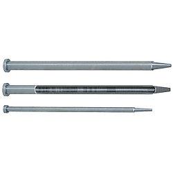 冷却穴付1段センターピン -ダイス鋼SKD61+窒化/軸径(D)固定/軸径公差-0.01_-0.02タイプ-