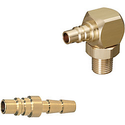金型カプラ -プラグ/ホース取付用-/L形スイベルタイプ