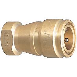 コンパクト・ダブルバルブ 冷却ハイフローカプラ -ソケット/オネジ取付用-