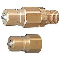 コンパクト・ダブルバルブ 冷却ハイフローカプラ -プラグ-