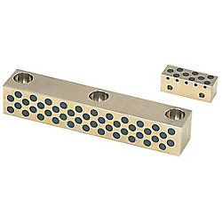 Oil-Free Plain Guide Rails -Heat-Resistant 120degree Type- (Copper Alloy/SKS3)
