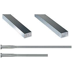 刻印付R付角エジェクタピン -ハイス鋼SKH51/ツバ厚4mm/P・W公差0_-0.01タイプ-