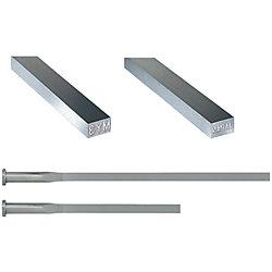 精級刻印付R付角エジェクタピン -ハイス鋼SKH51/ツバ厚4mm/P・W公差0_-0.005タイプ-