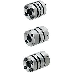 カップリング 高剛性(外径40)ディスク形/面圧タイプ/キー溝穴タイプ/サーボモータ対応