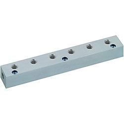 エア用ブロックマニホールド -横貫通穴・上穴タイプ