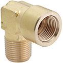 Raccords en laiton pour tuyau en acier - Coude à 90°, filetage/taraudage
