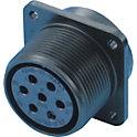 CE05・JL04V 欧州規格・防水 パネル取付レセプタクル(ネジ式)