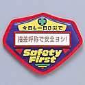 "Solid Awareness Campaign Emblem, ""Secure Safety by Pointing Confirmation"""