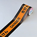 "Printed Fluorescent Tape ""Danger - Hazard}"