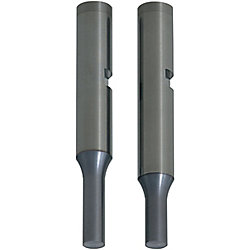 Carbide Punches with Key Grooves  Minus D tolerance, TiCN Coating