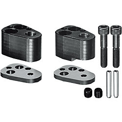 Heavy Duty End Retainer Sets for High-Tensile Steel, for NC Machining, Punches with Locating Dowel Holes