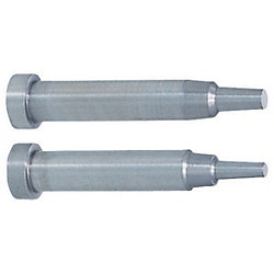 Precision Two-Step Core Pins -Shaft Diameter (D) Selection/Shaft Diameter Tolerance 0_-0.005/Tip A・V・E Tolerance ±0.005 Type-