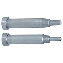 Two-Step Core Pins -Shaft Diameter (P) Designation (0.01mm Increments) /Shaft Diameter Tolerance 0_-0.005/Tip A·V・E Tolerance ±0.01 Type-