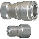 Compact・Double Valves Cooling High Flow Couplers -Stainless Steel Sockets・Plugs-