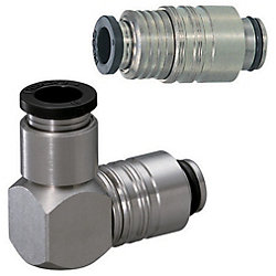 Quick-Fitting Joints For Mold Cooling -Separate Plugs・Sockets/(Heat-Resistant 99degree Series) /Plugs-