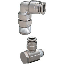 Quick-Fitting Joints For Mold Cooling -Integrated Plugs・Sockets (Heat-Resistant 120degree Series) /L-Shaped Joints-