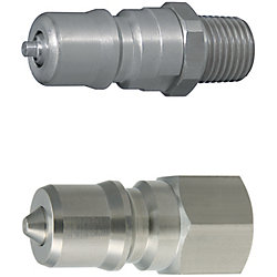 Double Valves SP Couplers For Cooling -Stainless Steel Plugs/Heat Resistant 180degree-