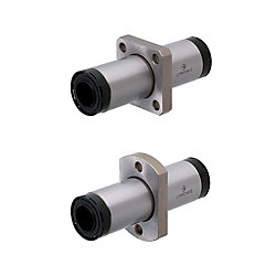 Linear Bushings with Lubrication Unit MX - Center Flanged Double