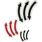 Arrow Stickers/Curved