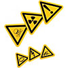 Warning/Danger Triangular Stickers