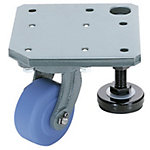 Casters with Integrated Plate and Adjustment Pad/MC Nylon Wheel