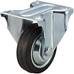 Casters - Medium Load - Wheel Material: Rubber - Fixed