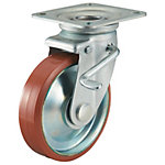 P-WJS Type Caster for Medium Loads with Logllan (Urethane) Wheel Type with Swivel Hardware and Double Stopper