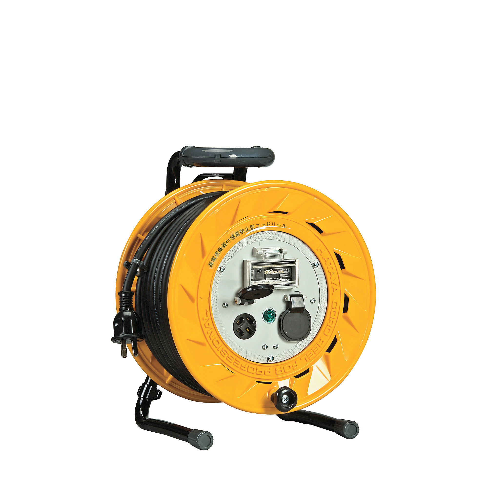 Cord Reel Three Phase 200 V With Breaker Electric Wire Length M 20 Retractable Extension W Circuit 2050