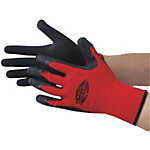 Unlined Natural Rubber Gloves Tough Red