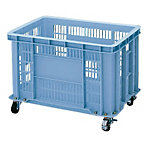 BS Type Mesh Container Blue, with Caster